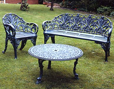 Miraculous Cast Aluminium Outdoor Benches Garden Furniture London Uk Gmtry Best Dining Table And Chair Ideas Images Gmtryco